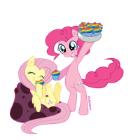 MLP: Where is Rainbow Da....CUPCAKES!!! by Zilkenian