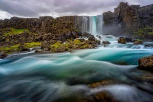 Icelandic Waterfall by paulmp