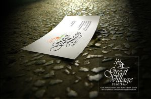 great village visiting card by khawarbilal