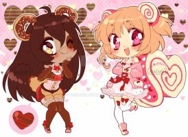 Sweet Valentine adopts (CLOSED) by DesireeU