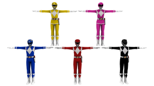 Mighty Morphin Power Rangers 3D Models by bogeymankurt
