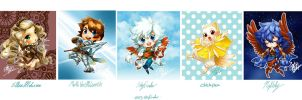 2013 Chibi Line Up by skyfinder