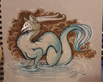 Puddle Dragon by SilentReaper