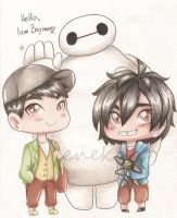 Day 3: with Baymax by Viodino
