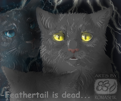 Feathertail is dead. Graystripe. Warriors by Romashik-arts