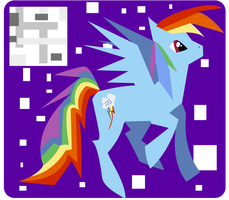 Picasso Rainbow Dash by KellyPony