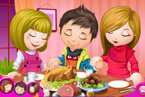 Cute Children Thanksgiving Day Dress up Game by willbeyou