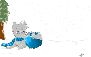 waking up in the snow by The-stray-cat