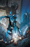 Blue Beetle 11 cover by PaulRenaud