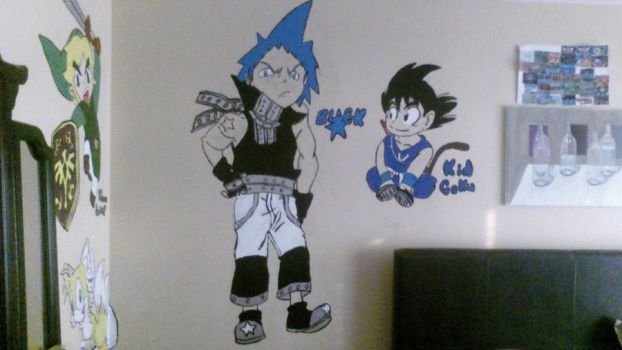 Black Star And Kid Goku Painting by SonicMan122