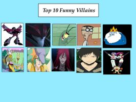 My top 10 funny Villains by DjCinnccing