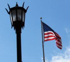 flag and lamp post by DramaQueenB