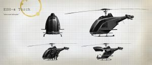 ESH - 6 helicopter by Skworus