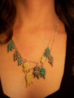 Swirly Wing Necklace by CraftMagic