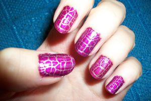 crackle nail art - manicura craquelada by butterfly1980