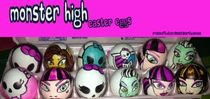 Monster High Easter eggs by Rene-L