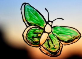 Green butterfly by smellslikeoreo