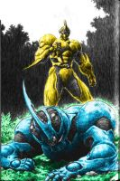 Guyver I Vs Guyver II by GuyverWarrior01