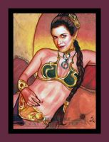 Topps Star Wars GALACTIC FILES Enslaved Princess by MJasonReed