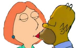 Homer and Lois Kissing by Andresempe
