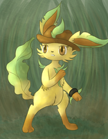 Line the Leafeon by fuwante-chan