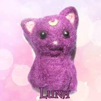 .:Needle Felting Luna:. by PhantomCarnival