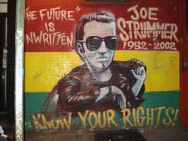 Joe Strummer Mural Memorial 2 by Satur9girl