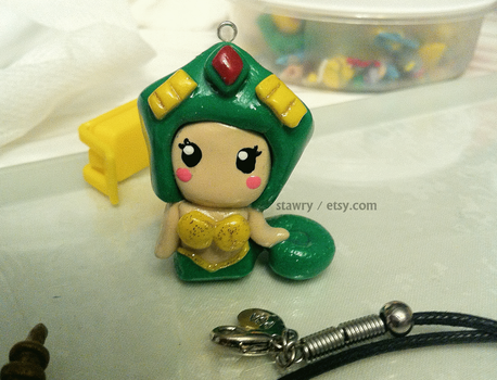 Cassiopeia Charm ~ League of Legends Clay by Stawry