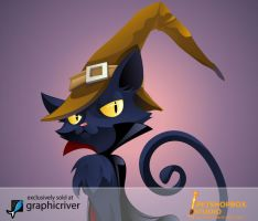 Witch Cat by petshop-studio