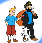 tintin group pic by Nintendrawer