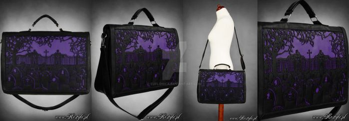 Violet Cemetery Bag by Euflonica