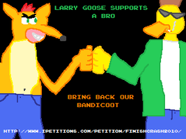 Larry Goose Supports a Bro by korusan