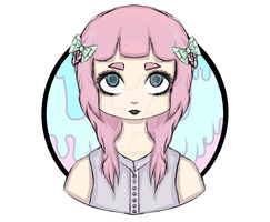 Pastel Goth Girl by BlondieAu