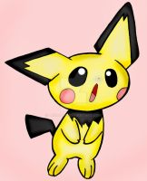 Pokemon: Pichu :D by LizDraws