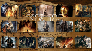 The Hobbit 1, 2, 3 Large Packaged Icons by KSan23