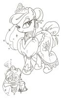 My Little Pony Haunted Mansion Bride, Constance by andypriceart
