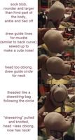 head - pony plush prototyping process WIP by akaikya