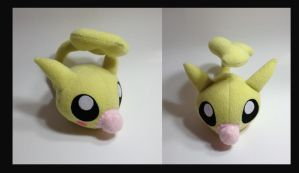 Digimon - Leafmon custom plush by Kitamon