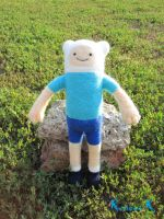 Finn the human.Adventure time character. by CandyMermaid