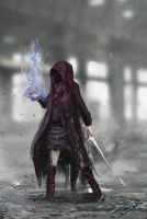Post Apocalyptic Wizard Girl - Concept by robertb8
