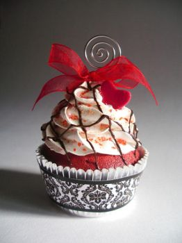 Red Velvet Faux Cupcake - 01 by CreativeAbubot