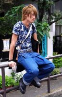 Japanese guy sitting by LiviuSquinky
