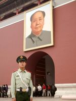 Soldier in Tiananmen Square by vanfoto