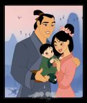 Commission:The family of Mulan by FreeWingsS