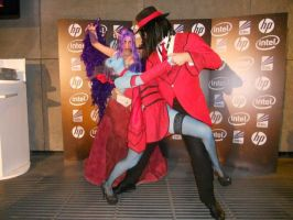 Morgana, Evelynn and Twisted fate Tango Cosplay by Morganita86