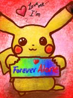Pikachu is forever alone by Eaglefriend