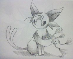 Request: Moshe the Espeon in 0.1 Pen by Bluekiss131