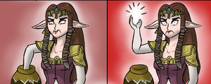 Zelda Holds a Thing Meme (blank) by InkRose98