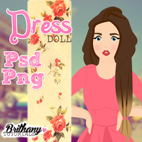 Dress doll by Brithanytutorials by Brithanytutorials