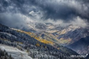 First Snow on the Resort HDR by mjohanson